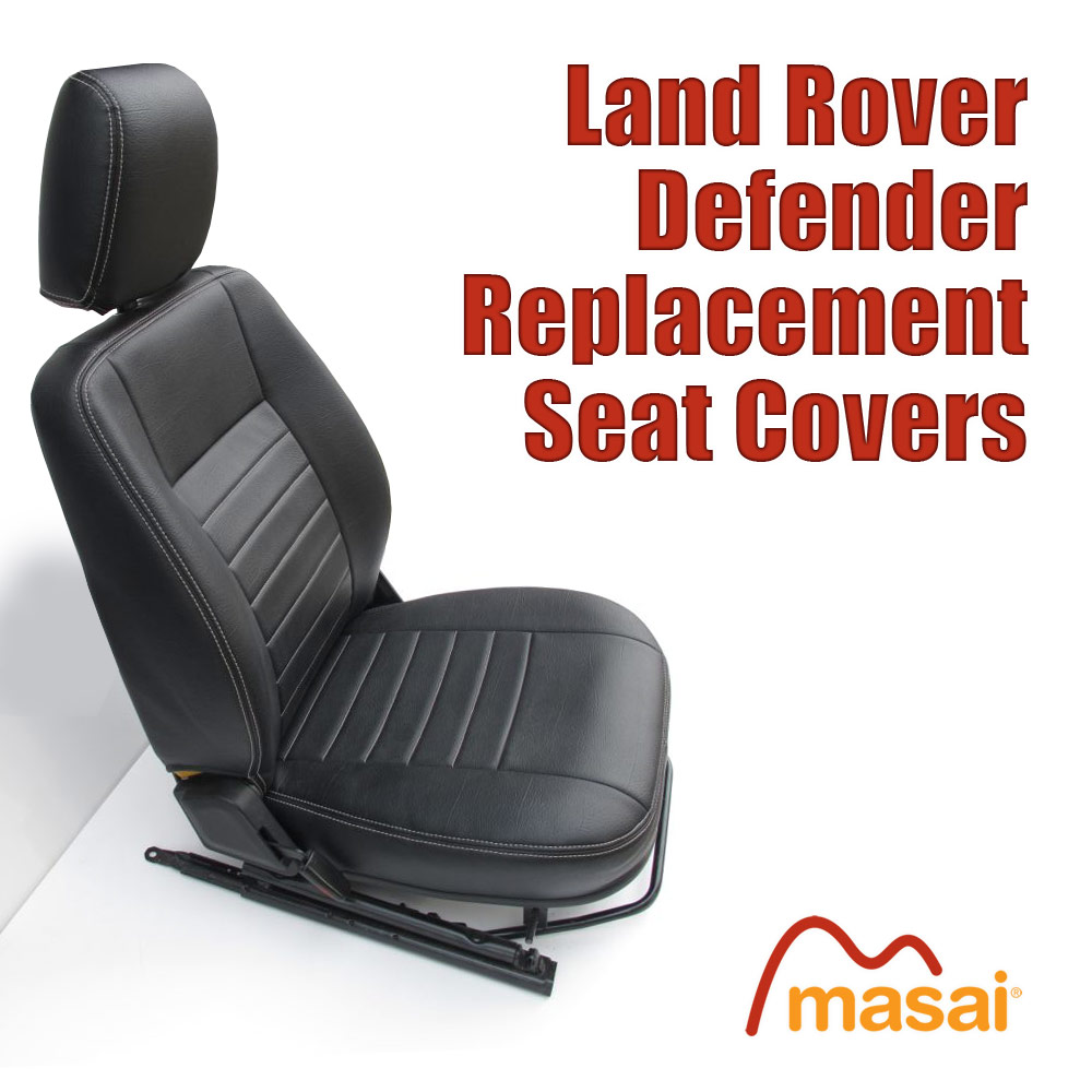Replacement Seat Covers for Land Rover Defender 1998 to 2007  DF8907FR. DF8907MID.