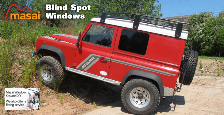 masai Defender blind spot windows
