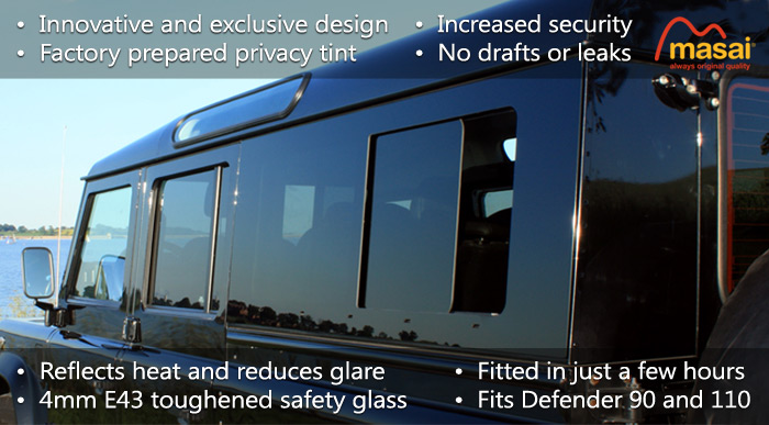 Masai Panoramic Windows For Land Rover Defenders 90 And 110