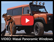 VIDEO - Masai Panoramic Windows fitted to a Defender 110