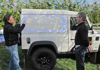 Fitting Masai Panoramic Windows To A Hard Top Land Rover