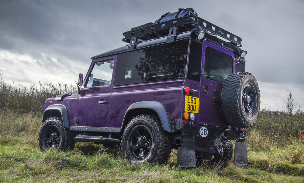 Purple Masai Land Rover Defender Upgrades Accessories